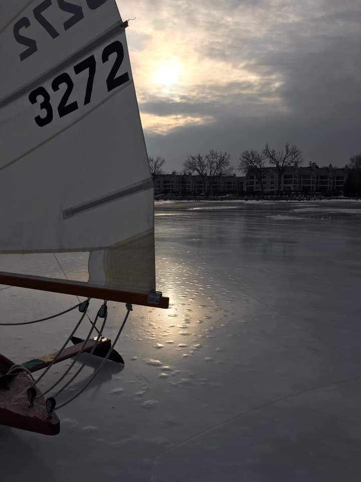 Ice skating on Lake Minnetonka