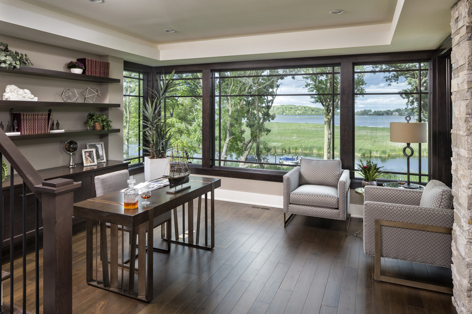 Interior of a model home on Lake Minnetonka