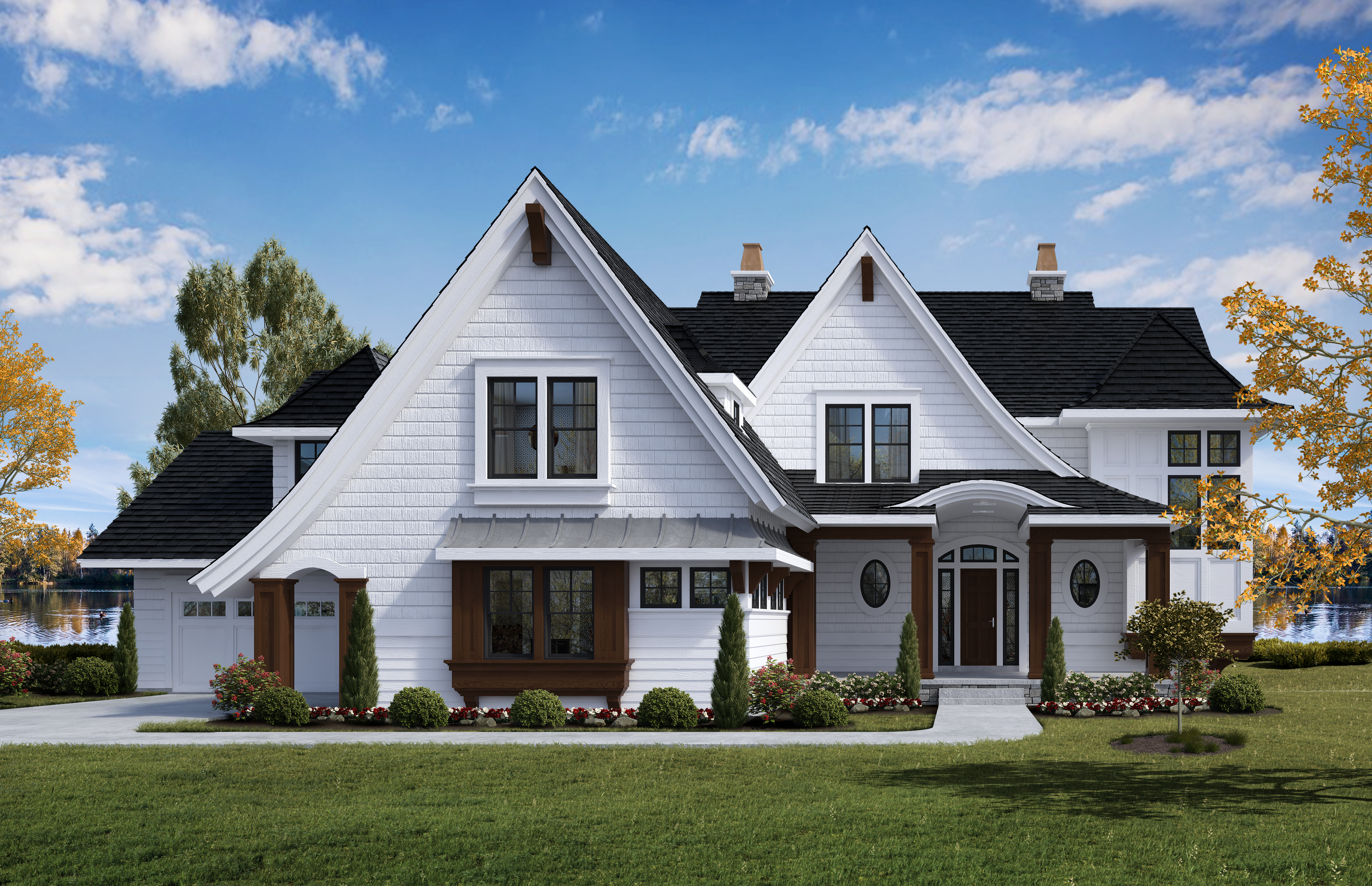 Lakefront Home by NIH Homes