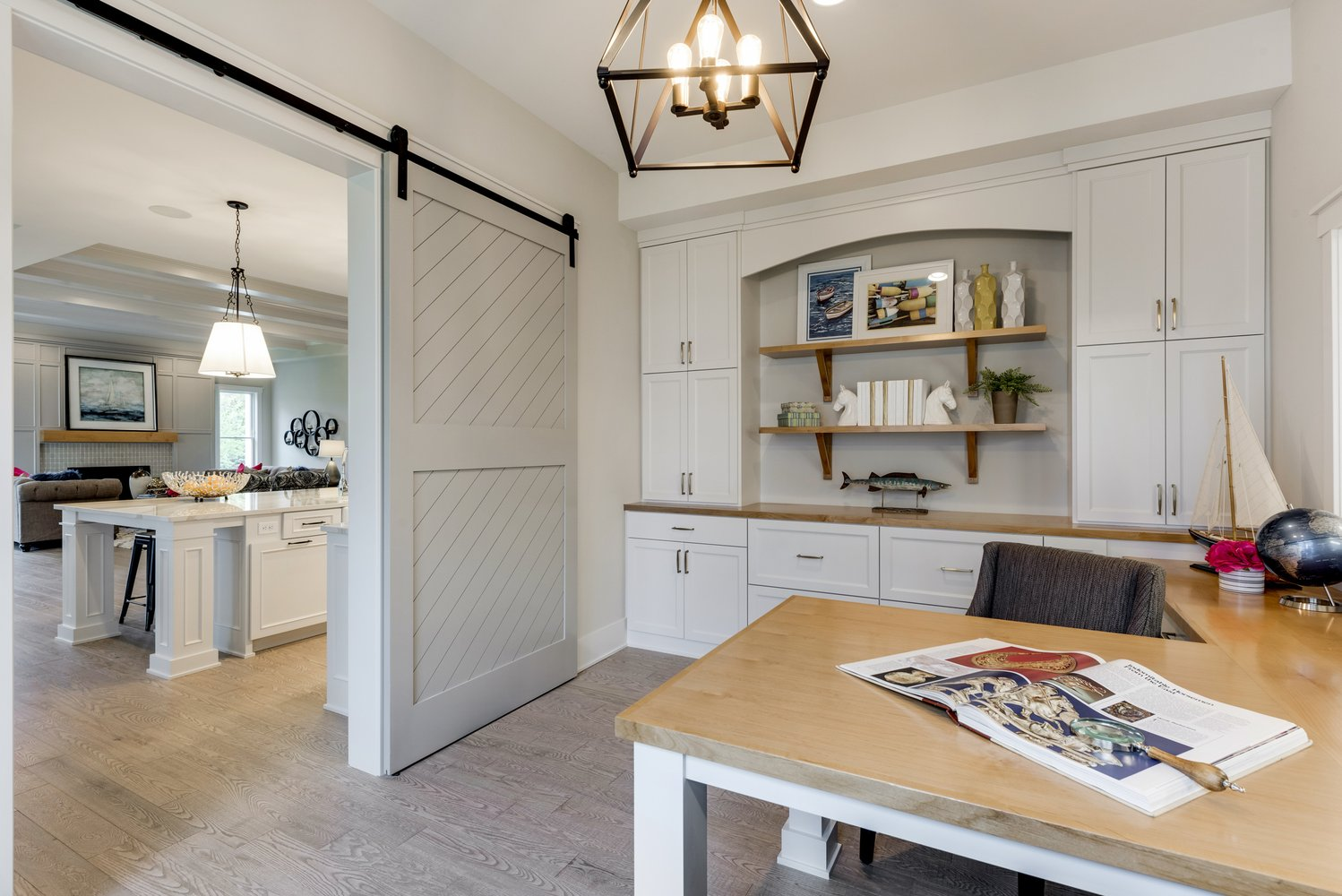 Barn Door to Home Office
