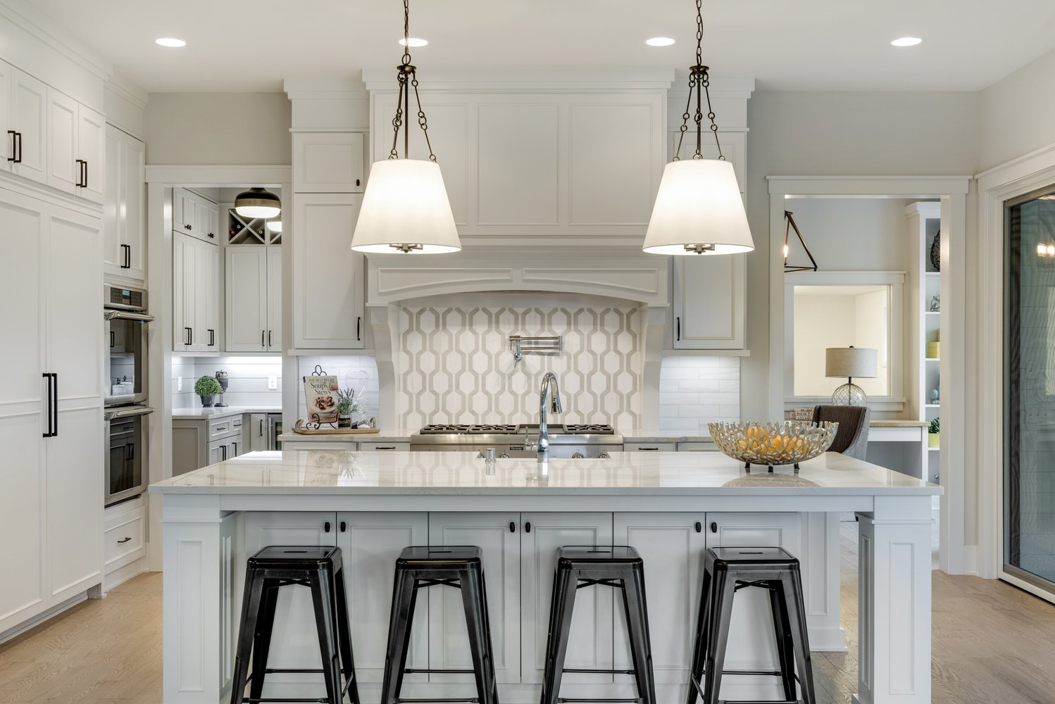 Kitchen Island in Home on Lake Minnetonka