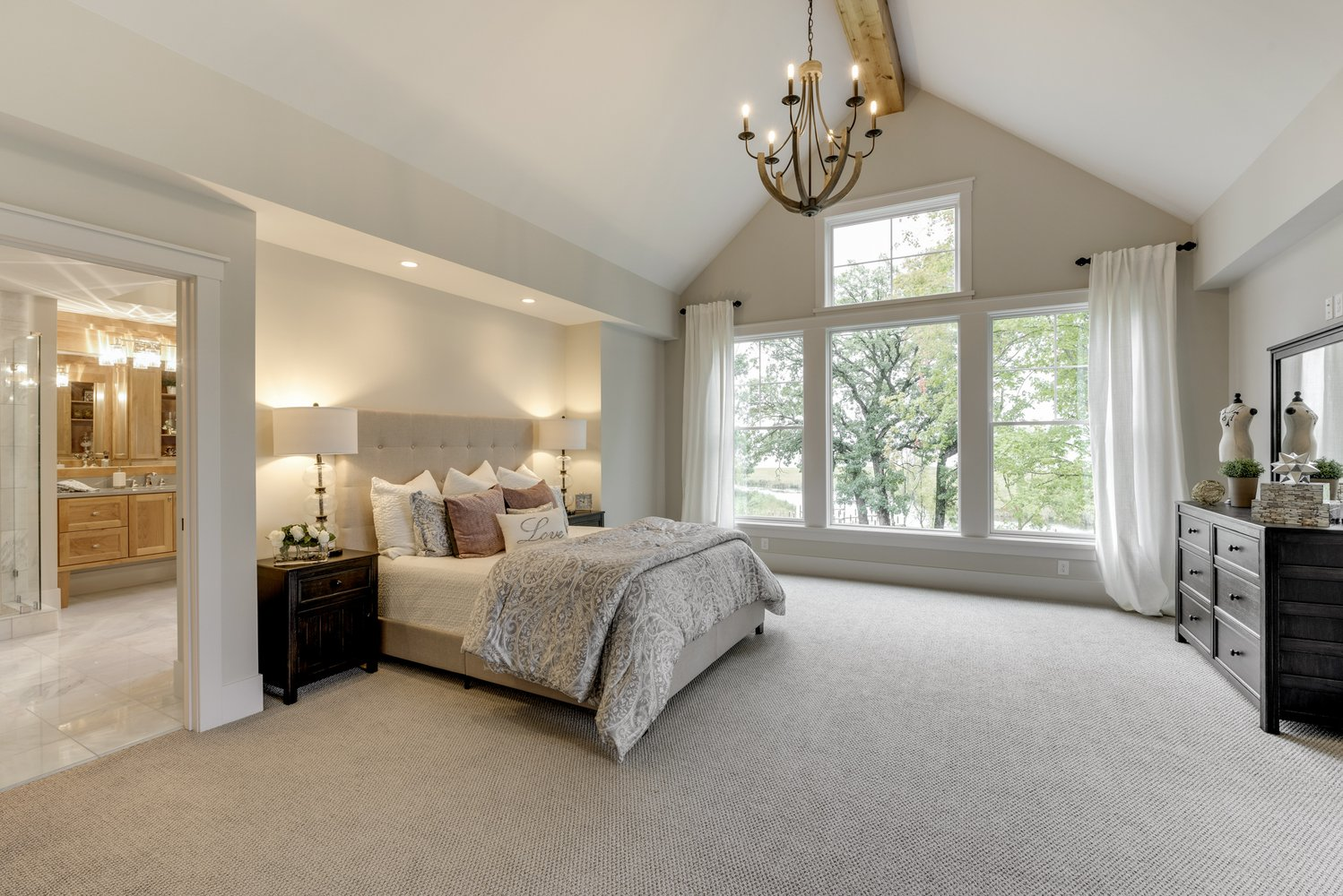 Master Bedroom with view of Lake Minnetonka