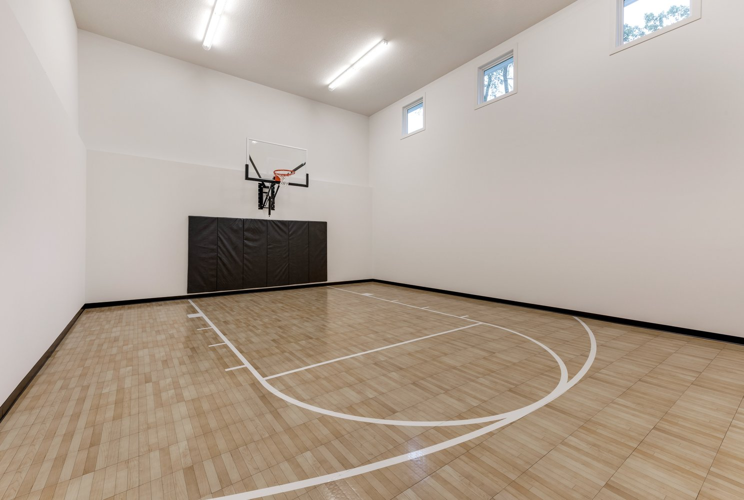 Sport Court in Home on Lake Minnetonka