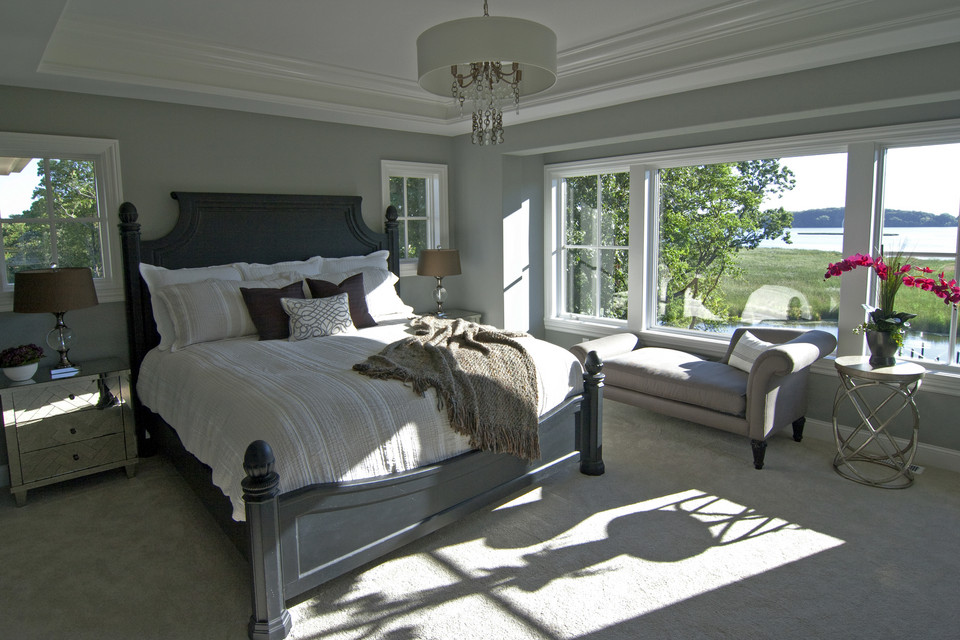 Bedroom of model home