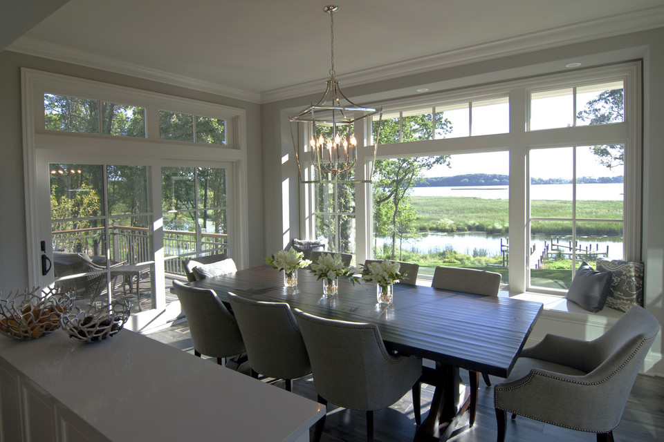 Dining room with Lake Minnetonka through the window